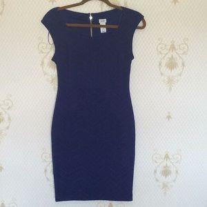 Cache' Blue & Black Pencil Dress